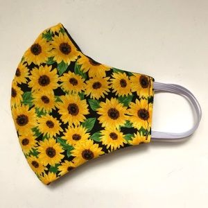 Accessories - NEW Reversible Face Mask XS/Small Sunflower Print